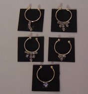 Diamante Set of 5 Necklaces, Dolls House Miniature (XY651)