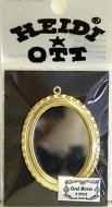 Dolls House Miniature Oval Mirror (XY655)