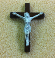 Heidi Ott Crucifix Cross with a walnut finish (XY656W)