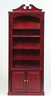 Dolls House Miniature Mahogany Book Shelf Unit (XY702M)