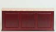 Dolls House Miniature Mahogany Shop Counter (XY706M)