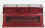 Dolls House Miniature Mahogany Shop Counter (XY707M)