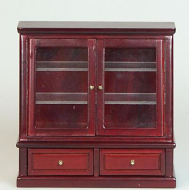 Dolls House Miniature Mahogany Glazed Shelf Unit (XY708M)