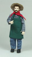 Heidi Ott Dolls House Doll, Gardener (X017)