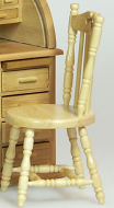 Dolls House Miniature Oak Office Chair (XY716OAK)