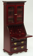 Dolls House Miniature Mahogany Desk Cabinet (XY753M)