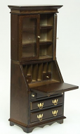 Dolls House Miniature Walnut Desk Cabinet (XY753W)