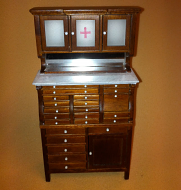 Heidi Ott Dentist Cabinet with a walnut finish (XY764)