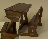 Heidi Ott Dolls House School Desk (Double) (XY770W)