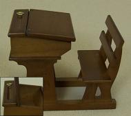 Heidi Ott Dolls House School Desk (Single) (XY771W)