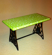 Dolls House Iron Bistro Table (Green) (XY780G)