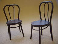 Pair of Dolls House Iron Bistro Chairs (Brown) (XY781B)