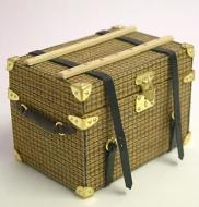 Dolls House Miniature Luggage Square Trunk (XZ006)