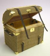 Dolls House Miniature Luggage Round Topped Trunk (XZ009)
