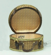 Dolls House Miniature Medium Round Suitcase (XZ019)