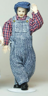 Heidi Ott Dolls House Doll, Man in Blue Dungarees (X074)