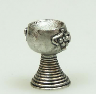 Dolls House Miniature Pewter Goblet (Set of 4) (XZ203)