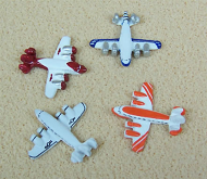 Dolls House Toy Aeroplanes (Set of 4) (XZ220)