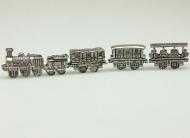 Dolls House Miniature Pewter Train & Coaches (XZ250)