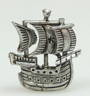 Dolls House Miniature Pewter Ship (XZ251)