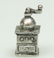 Dolls House Miniature Pewter Coffee Mill, Dolls House Miniature (XZ257)