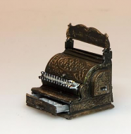 Black Cash Register Till, Dolls House Miniature (XZ268)