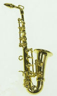 Dolls House Miniature Saxophone (XZ321)
