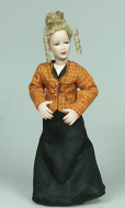 Heidi Ott Dolls House Doll, Lady in Orange and Black (X083)