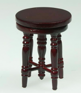 Dolls House Miniature Stool (Mahogany) (XZ340M)