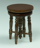Dolls House Miniature Stool (Walnut) (XZ340W)