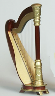 Dolls House Miniature Harp (XZ347)