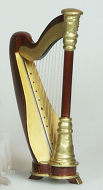Dolls House Miniature Harp (XZ348)