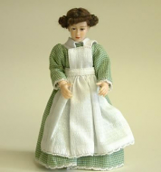 Heidi Ott Dolls House Doll, Maid in Green/White (X084)