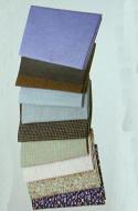 10 Assorted Fabrics, Dolls House Miniature (XZ361)