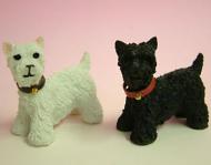 Dolls House Miniature Scottie Dogs x2 (XZ500)