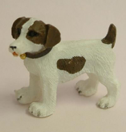 Dolls House Miniature Jack Russell Dogs x2 (Dark Brown) (XZ502)
