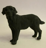 Dolls House Miniature Black Labrador (XZ506)