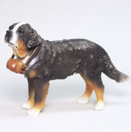 Dolls House Miniature Black St. Bernard (XZ508)