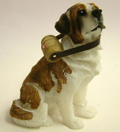 Dolls House Miniature Brown St. Bernard (XZ511)