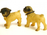 Dolls House Pug Dogs x2 (XZ515)
