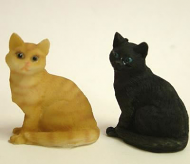 Dolls House Miniature Cats x2 (XZ563)