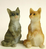 Dolls House Miniature Cats x2 (XZ564)