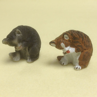 Dolls House Miniature Set of 2 Cats (XZ576)