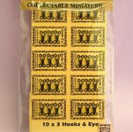 Black Hooks and Eyes(Pack of 30), Dolls House Miniature (XZ721)