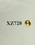 Gold 3.5mm Buttons (Pack of 100), Dolls House Miniature (XZ728)