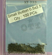 Black2.5mm Buttons (Pack of 100), Dolls House Miniature (XZ732)