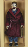 Heidi Ott Dolls House Doll, Man Wearing Dressing Gown (X091)