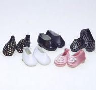 5 Pairs of Adult Dolls Shoes, Dolls House Miniature (XZ750)