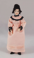 Heidi Ott Dolls House Doll, Lady in a Peach Dress (X092)