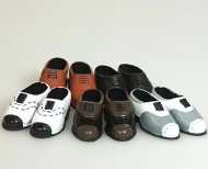 5 Pairs of Men's Dolls Shoes, Dolls House Miniature (XZ759)